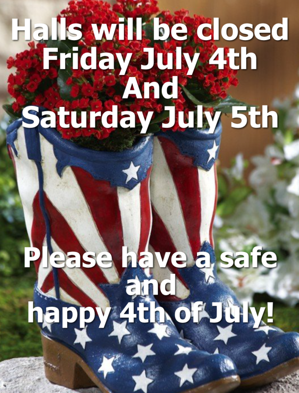 4th of July closure 2014
