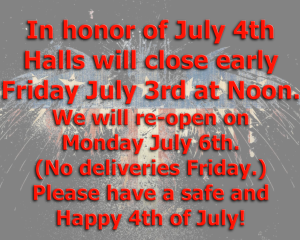 4th of July closure 2015 red