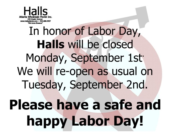 Labor day closure notice 2014