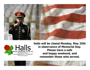 Memorial Day Closure 2015