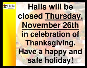 Thanksgiving 2015 closure notice (1)