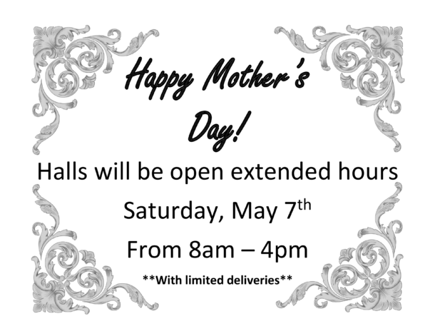 mothers day extended hours 2016